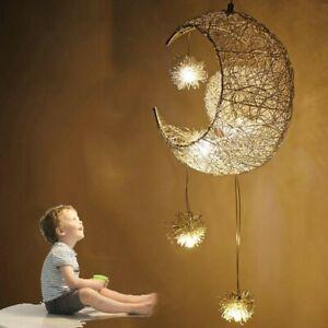 Kinder Deckenleuchte LED Mond Decken Pendel Hängeleuchte Schlaf Zimmer Lampe DHL