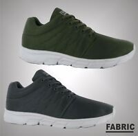 New Mens Branded Fabric Lightweight Lace Up Reup Runner Trainers Shoes Size 7-12