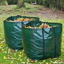 2x 55L Heavy Duty Garden Refuse Bags With Handles Waste Sacks Waterproof Bin
