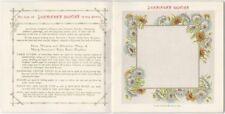 1903 Dennison Fancy Paper Napkins Color Illustrated Trade Catalog