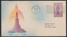 "#777-27B ""RHODE ISLAND"" ON HAND PAINTED COVER RISKO CACHET BT905"