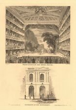 HAYMARKET OPERA HOUSE (now HER MAJESTY'S THEATRE). Proscenium/entrance 1834