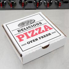 "7"" x 7"" x 1 3/4"" White Corrugated Pizza Box - 100 / Case- Fast Shipping !"