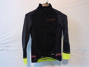 Louis Garneau Women's Course WindPro LS Cyling Jersey Medium Black/Yellow/Pink