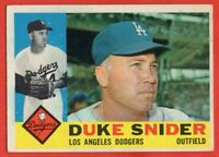 1960 Topps #493 Duke Snider EX Hall of Fame Los Angeles Dodgers FREE SHIPPING