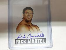 RICK MARTEL  2014 LEAF ORIGINALS WRESTLING AUTHENTIC ON CARD AUTOGRAPH