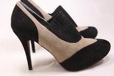 Women's Donald J. Pliner Black/Tan Suede Booties Size 9.5 High Heels