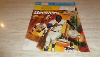 May, 1971 Boston Red Sox @ Milwaukee Brewers Program - Unscored -EX