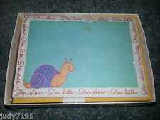 Set of 10 Blank Greeting Cards & Envelopes Vintage Snail I'm Slow I'm Late Notes