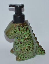 BATH BODY WORKS GREEN CERAMIC DINOSAUR TREX GENTLE FOAMING SOAP DISPENSER HOLDER