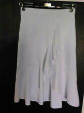 White Flamenco Ruffle Hem Wrap Style Skirt Size M ( 32-34'w)