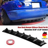 "33 ""x 5"" 7Fin ABS Auto SUV Hinten Shark Fin Curved Addon Stoßstange Lip Diffusor"