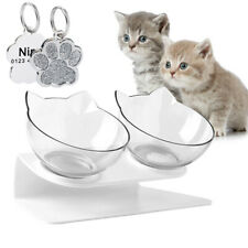 Tilted Cat Bowl with Stand Food Water Feeding Bowl Pet Dog Cat Feeder Elevated