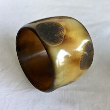 Buffalo Horn Bangle Bracelet 2 3/8 wide 8 3/16 inside circumference 03624