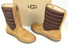 UGG Australia 1013292 Zaire Short Zip Suede Sheepskin Snow Boots Chestnut 10
