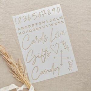 Large Wedding Signage Stencil Sheets Set of 4   DIY Wedding Sign