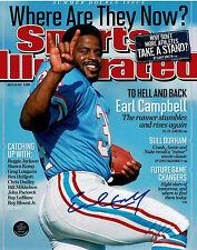 Earl Campbell Autographed Houston Oilers 8X10 Football Photo #43, COA