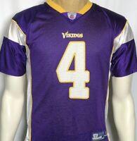 Minnesota Vikings Brett Favre No 4 NFL Reebok Football Jersey Youth Large 14-16