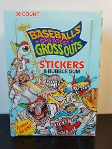 Baseball's Greatest Grossouts Sticker Card Box