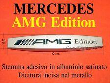 MERCEDES AMG EDITION Stemma ALLUMINIO CROMATO Badge Logo Emblema Fregio Scritta