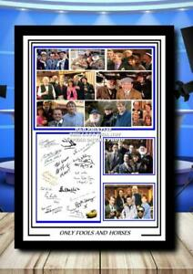 (354)  only fools & horses signed cast photograph unframed/framed  (reprint) @@@