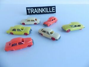 JOUEF 1:87 / 6 VEHICULES / VOITURES DS / 203 / ARONDE / DYNA / 403 / ARIANE