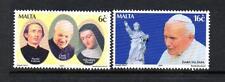 MALTA MNH 2001 SG1209-1210 VISIT OF POPE JOHN PAUL II SET OF 2