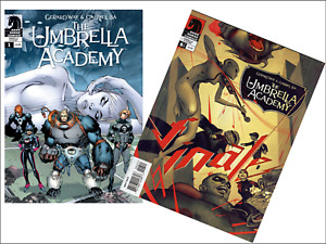 2 Miniature OPENING 'UMBRELLA ACADEMY'  Comics - Barbie Doll size 1:6 playscale