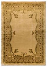 Tapis beige pour la maison en 100% laine, taille 170 cm x 240 cm