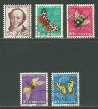 Switzerland 1954 Pro Juventute--Attractive Insect Topical (B237-41) fine used