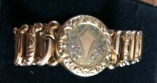 Vintage Sweetheart Bracelet w/ Locket La Mode Ripley & Gowen Tricolor Goldfilled