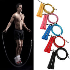 Speed Skipping Jump Rope Adjustable Wire Crossfit Exercise Gym Training Us Stock