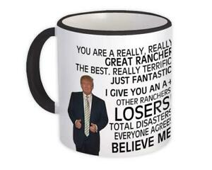 Gift Mug : RANCHER Funny Trump Great Birthday Christmas Jobs