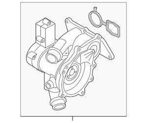 Genuine Volkswagen Thermostat Unit 06L-121-111-M