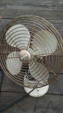 """1940s Vintage Hunter 13"""" Oscillating Modern Industrial Electric Steel Fan Tan"""