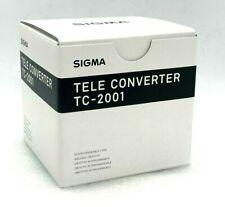New SIGMA TC-2001 2x Teleconverter for NIKON F