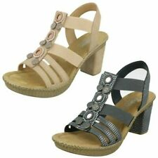 Ladies Rieker Slingback Heeled Sandals '66527'