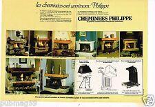 Publicité advertising 1981 (2 pages) Les Cheminées Philippe