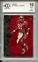 1996 SP Football #7 Terrell Owens Rookie Card RC Beckett Graded BCCG 10