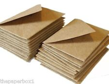 100 C7 Small, Mini Kraft Fleck Envelopes - RSVP