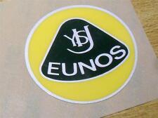 Plastic Badge, Eunos Roadster retro style, 55mm, yellow green stick on not Lotus