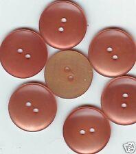 LOT 7 BOUTONS  Rose Orange Translucide NEUFS * 22 mm  2 trous 2,2 cm button pink