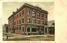 Letter Carriers & Employees Pose Outside, Post Office & Ymca, Johnstown Ny 1906