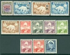 Greenland : Nice group of singles & part sets. Very Fine, Mint Original Gum H.
