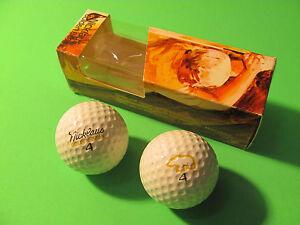 One Sleeve Of 2 MacGregor Golden Bear 4 Jack Nicklaus Golf Balls.