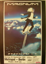 MAGNUM CONCERT TOUR POSTER 1990 GOODNIGHT L.A.