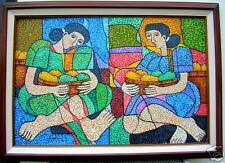 Fruit Vendor 24x36 Art Philippines Oil Painting