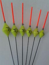 HAND MADE POLE FISHING FLOATS - RIZOV RF71 - 6 PIECES - 2 x 0.6/0.8/1 GRAMS
