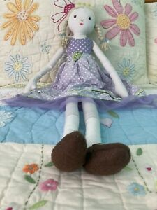 "Pottery Barn Kids Girls Doll 27"" GUC"