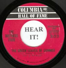 The Brothers Four FOLK 45 (Columbia 33060)The Green Leaves of Summer/Greenfields